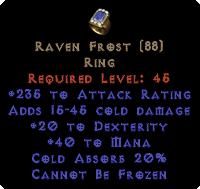 Raven Frost - +20 Dex & 150-249