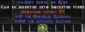 100 Attack Rating & 10 Min Damage Jewel