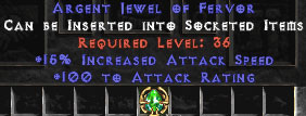 100 Attack Rating & 15% IAS Jewel