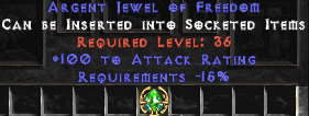 100 Attack Rating & -15% Requirements Jewel