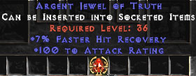 100 Attack Rating & 7% FHR Jewel