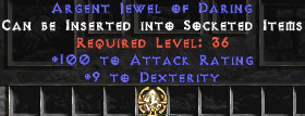 100 Attack Rating & 9 Dexterity Jewel