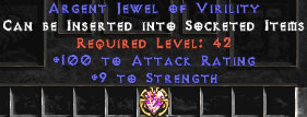 100 Attack Rating & 9 Strength Jewel