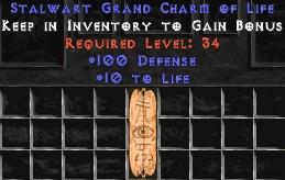 100 Defense w/ 10-19 Life GC