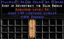 100 Defense w/ 1-33 Lightning Damage GC
