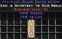 100 Defense w/ 20-29 Life GC