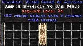 100 Defense w/ 50 Poison Damage GC