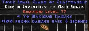 100 Poison Damage w/ 1 Max Damage SC