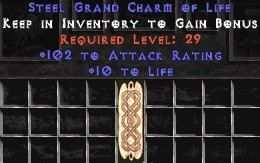 102 Attack Rating w/ 10-20 Life GC