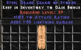 102 Attack Rating w/ 1-33 Lightning Damage GC