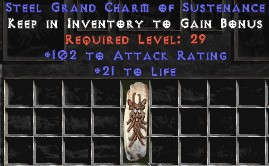 102 Attack Rating w/ 21-25 Life GC