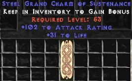 102 Attack Rating w/ 31-35 Life GC