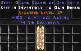 102 Attack Rating w/ 4-5 Dex GC