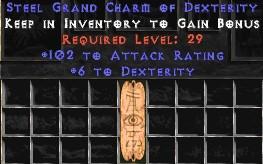 102 Attack Rating w/ 6 Dex GC
