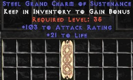 103-116 Attack Rating w/ 21-25 Life GC