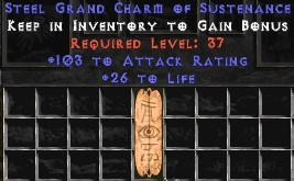 103-116 Attack Rating w/ 26-30 Life GC