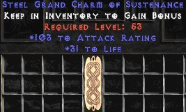 103-116 Attack Rating w/ 31-35 Life GC