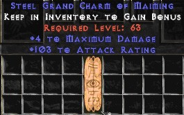 103-116 Attack Rating w/ 4 Max Damage GC