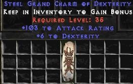 103-116 Attack Rating w/ 6 Dex GC