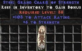 103-116 Attack Rating w/ 6 Str GC