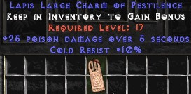 10 Cold Resist w/ 25 Poison Damage LC