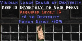 10 Resist Poison w/ 5 Dex LC