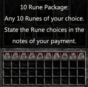 Multiple Rune Package 10 x Any Runes