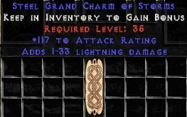 117 Attack Rating w/ 1-33 Lightning Damage GC