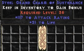 117 Attack Rating w/ 21-25 Life GC