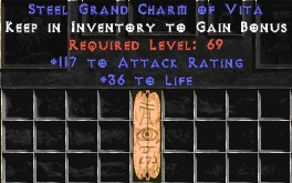 117 Attack Rating w/ 36-40 Life GC