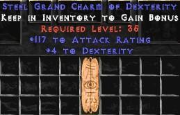 117 Attack Rating w/ 4-5 Dex GC