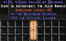 117 Attack Rating w/ 4 Max Damage GC