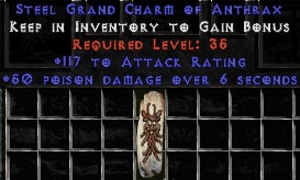 117 Attack Rating w/ 50 Poison Damage GC