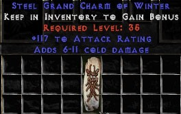 117 Attack Rating w/ 6-11 Cold Damage GC