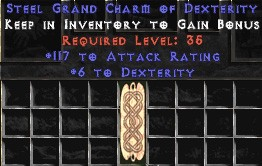 117 Attack Rating w/ 6 Dex GC