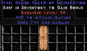 117 Attack Rating w/ 7-14 Fire Damage GC