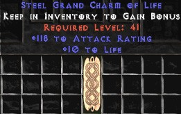 118-131 Attack Rating w/ 10-20 Life GC