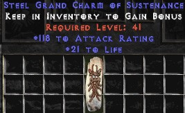 118-131 Attack Rating w/ 21-25 Life GC