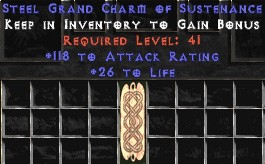 118-131 Attack Rating w/ 26-30 Life GC