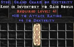 118-131 Attack Rating w/ 4-5 Dex GC