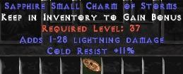 11 Resist Cold w/ 1-28 Lightning Damage SC