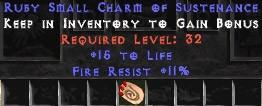 11 Resist Fire w/ 15 Life SC