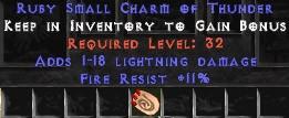 11 Resist Fire w/ 1-18 Lightning Damage SC