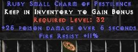 11 Resist Fire w/ 25 Poison Damage SC