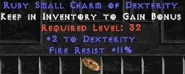 11 Resist Fire w/ 2 Dex SC