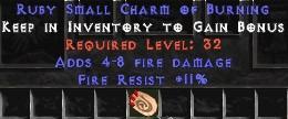 11 Resist Fire w/ 4-8 Fire Damage SC
