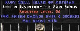 11 Resist Fire w/ 50 Poison Damage SC