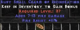 11 Resist Fire w/ 7-13 Fire Damage SC