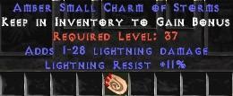 11 Resist Lightning w/ 1-28 Lightning Damage SC