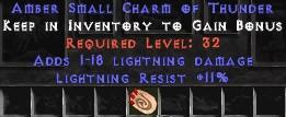 11 Resist Lightning w/ 1-18 Lightning Damage SC